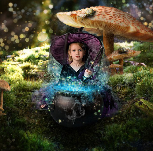 How to Turn Baby Photo into a Fairy Tale Composite in Photoshop Tutorial