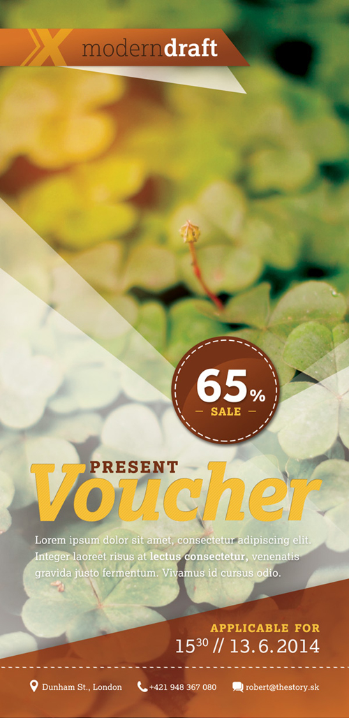 Design an Eye-Catching Voucher in Photoshop Tutorial