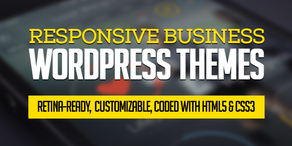 Responsive Business WordPress Themes (15 New WP Themes)