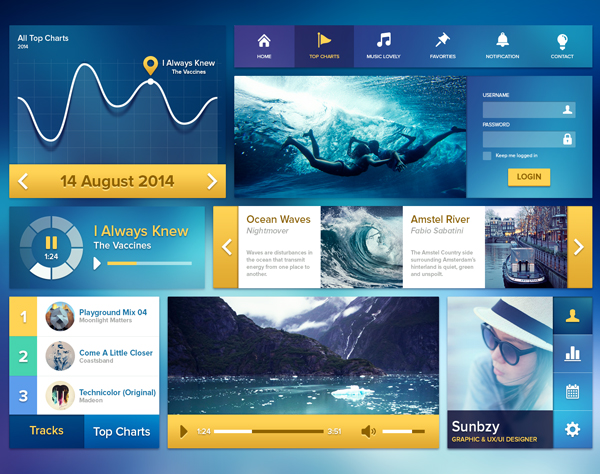 Ui Kit Ocean Blue