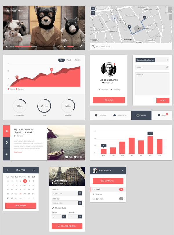 Smooth Free PSD UI Kit