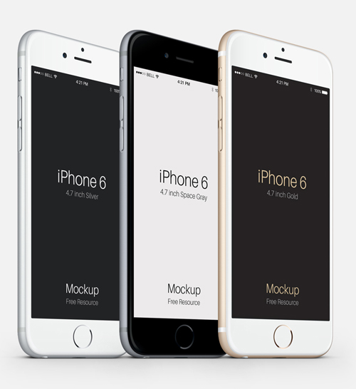 Free iPhone 6 and iPhone 6 Plus Mockup Templates (PSD, AI & Sketch) - Free Download - 2