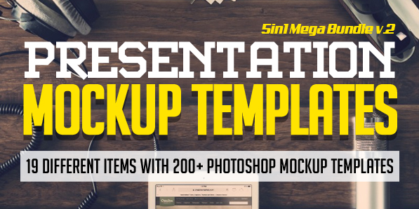 Presentation Mock-up Templates: 200+ Mockup Designs