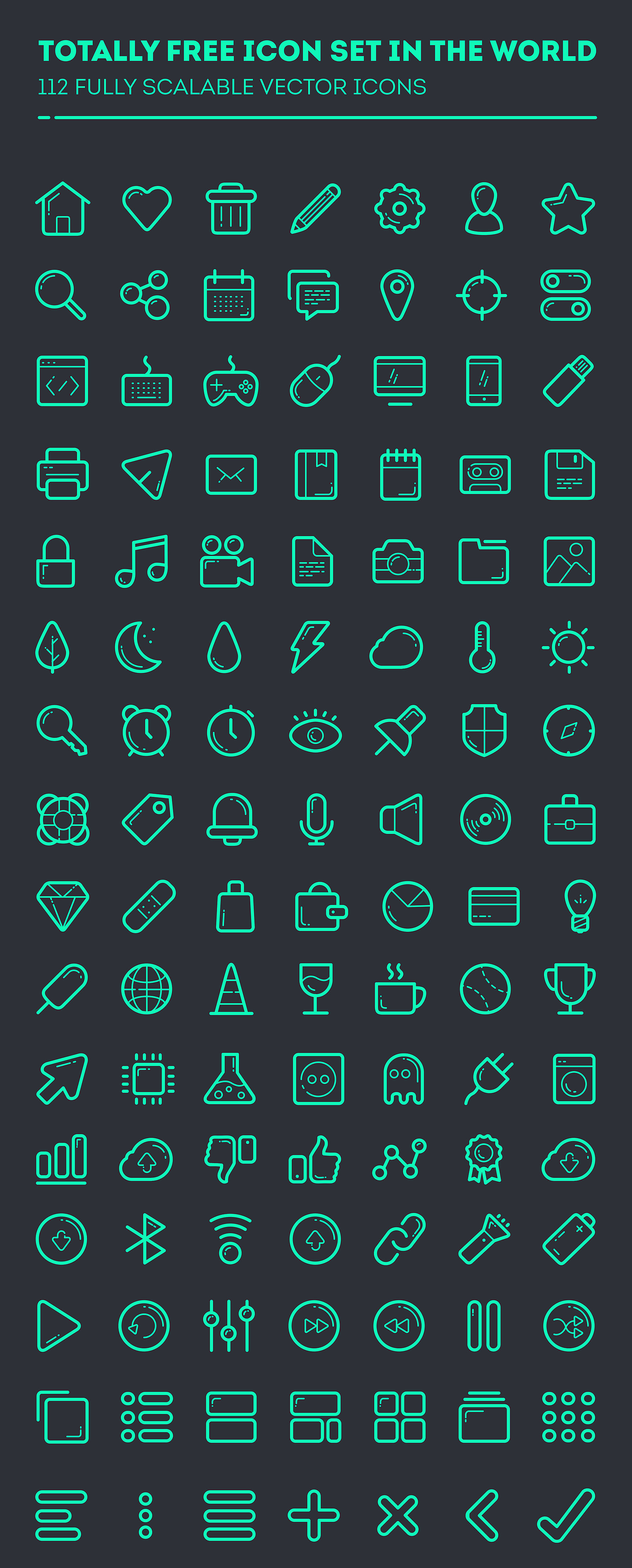 vector icon set 100 icons free download icons graphic
