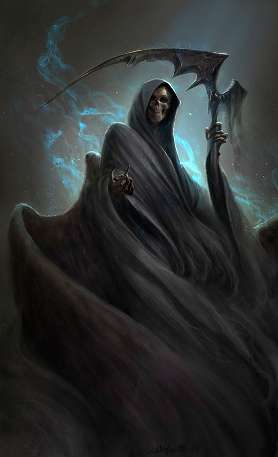 Grim Reaper for Sketch Dailies Digital Illustration