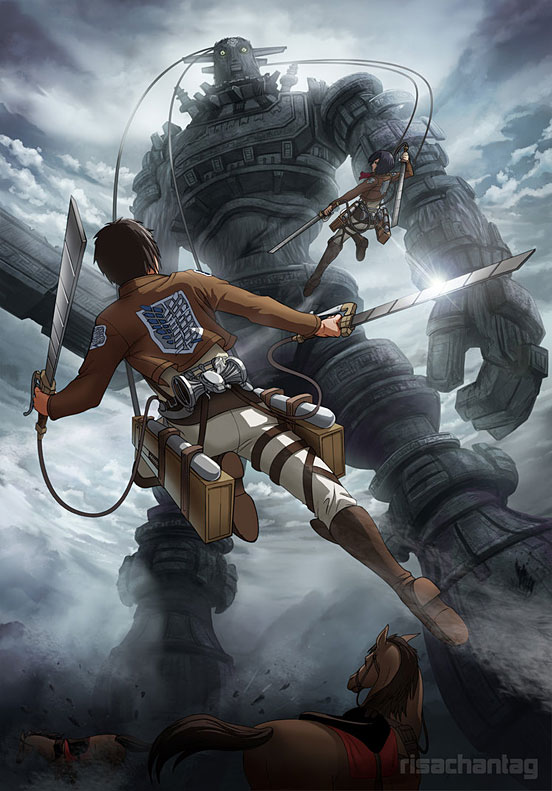 Attack on Colossus Digital Illustration