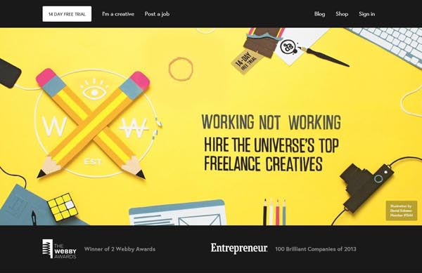 Flat Websites Design : 32 New Flat Web Design Examples 17