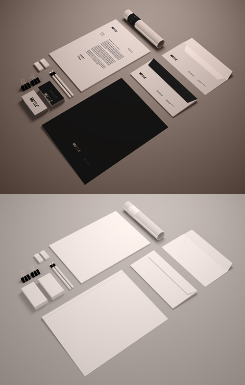 Free Stationary Mockup Template PSD
