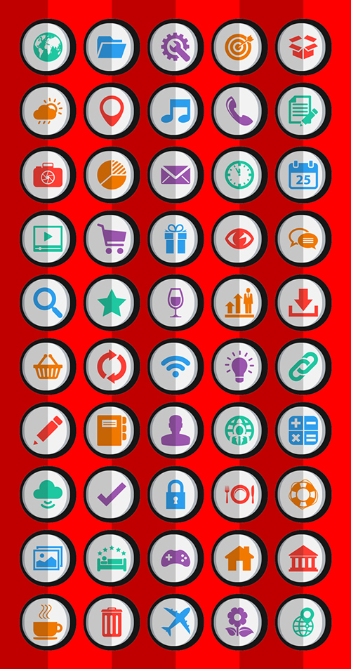 Flat Android Icons (Ai)