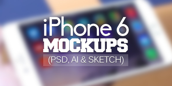 50 Free iPhone 6 and iPhone 6 Plus Mockups (PSD, AI & Sketch)