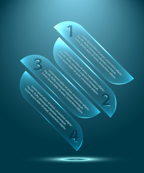 How to create vector glass infographics template