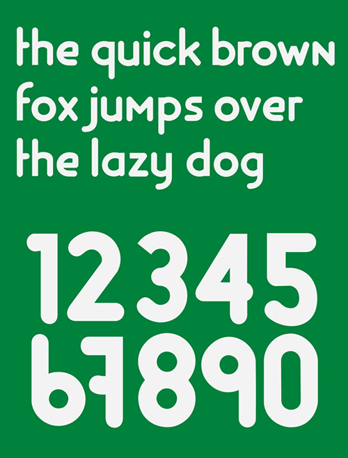 Groningen rounded font letters and numbers