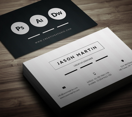 New Modern Style Corporate Business Cards | Design | Graphic ...