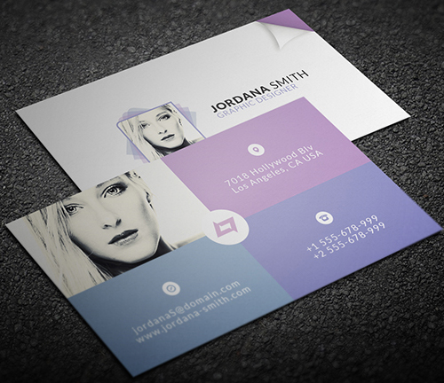 New modern style corporate business cards design graphic design personal business card template colourmoves
