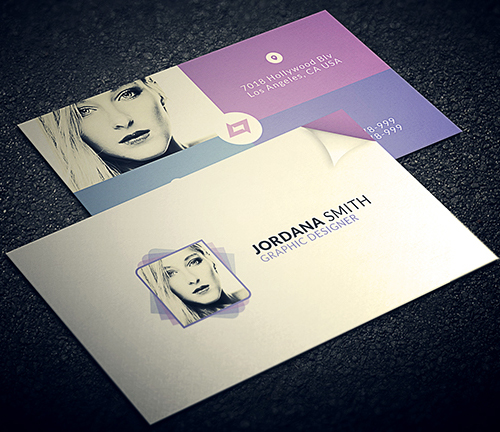 New Modern Style Corporate Business Cards Design Graphic - Personal business cards template