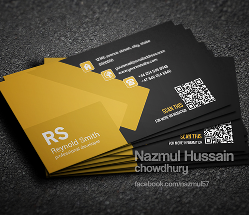 New Modern Style Corporate Business Cards Design Graphic - Professional business card templates