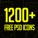 Post thumbnail of Free PSD Icons: 1200+ Icons for Designers