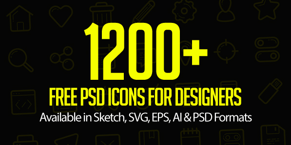Free PSD Icons: 1200+ Icons for Designers