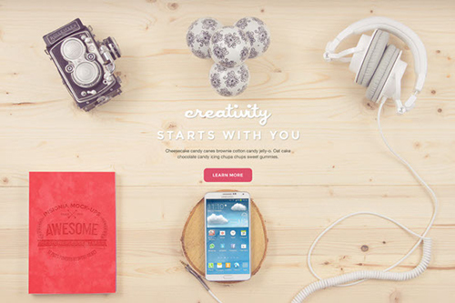 Creativity Bundle: 12 Free PSD Mockups