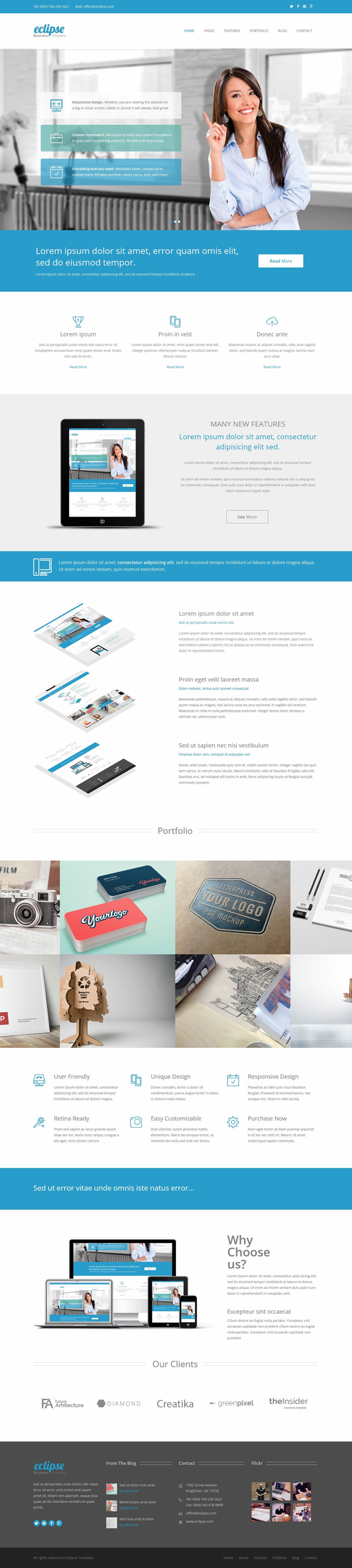 New html5 responsive templates with modern user interface design eclipse responsive business html5 template cheaphphosting
