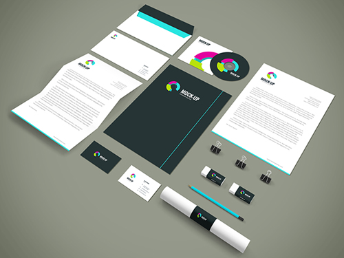 Freebie - Branding,Stationery PSD Mockup
