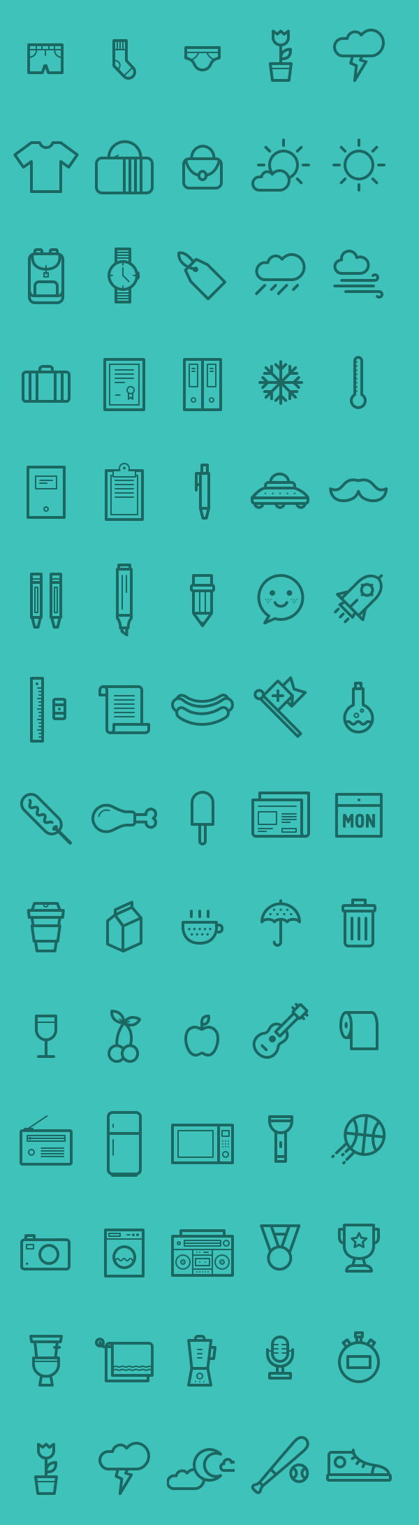 Medlee Iconset - AI EPS & PSD (80 Icons)