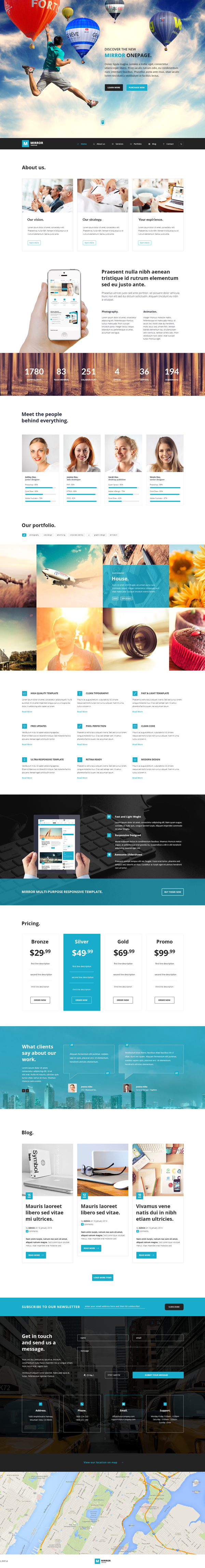 Mirror - Responsive HTML5 Business Kit