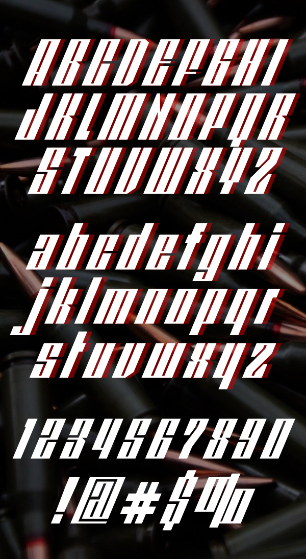 Redpower Font Letters