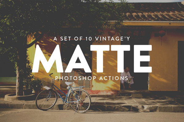 Vintage Matte Photoshop Actions