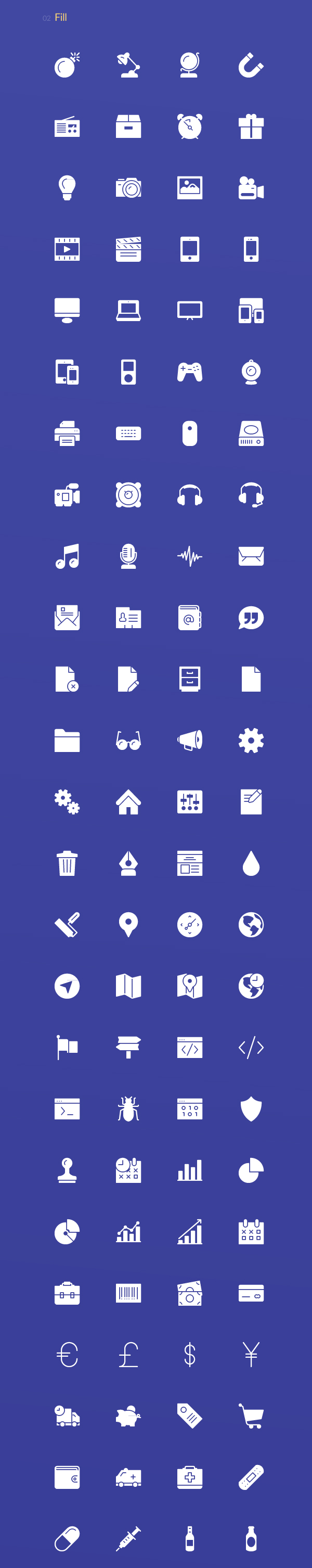 Webicons – Stroke & Fill Icons (100 Icons)
