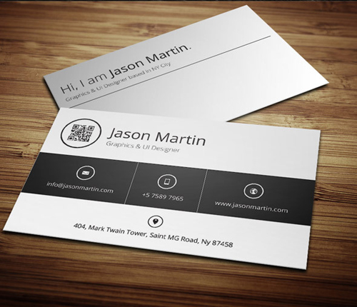 Minimal Metro Style Business Card