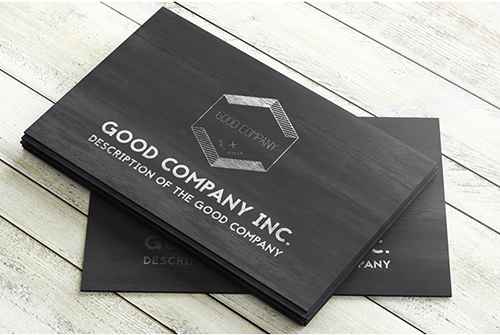 Black Wooden Business Card