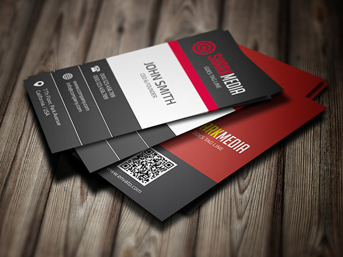 Creative Red-Black Business Card