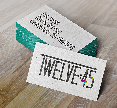 Twelve:45 Business card