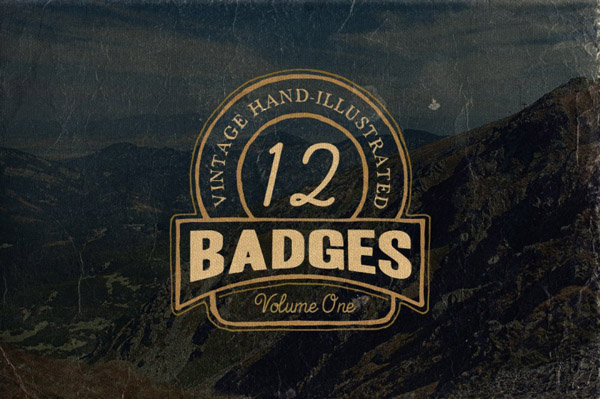 Hand Drawn Vintage Badges