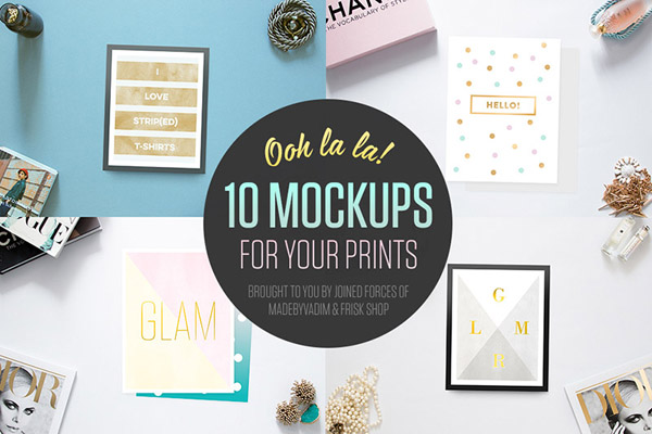 Mockups for your print design