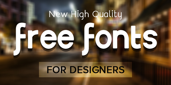 Free Fonts for Designers - 22 New Typefaces | Fonts | Graphic ...