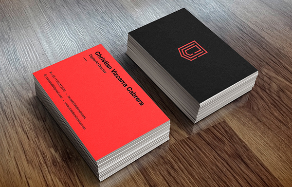Christian Vizcarra Bran Business Card