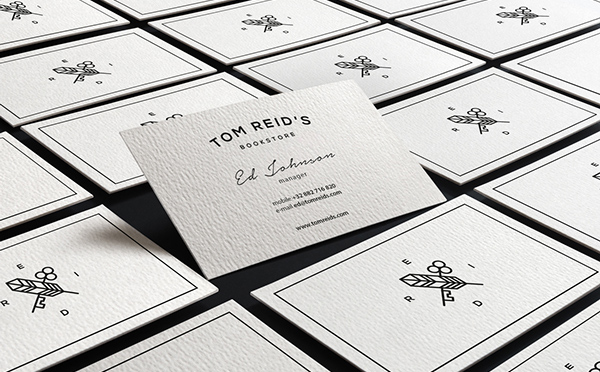 Tom Reid's Bookstore Business Card