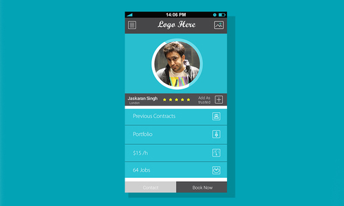 Profile Screen For Mobile App ( Free PSD )