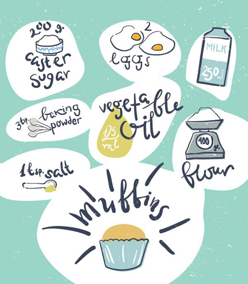 Muffin Recipe Vector Graphic