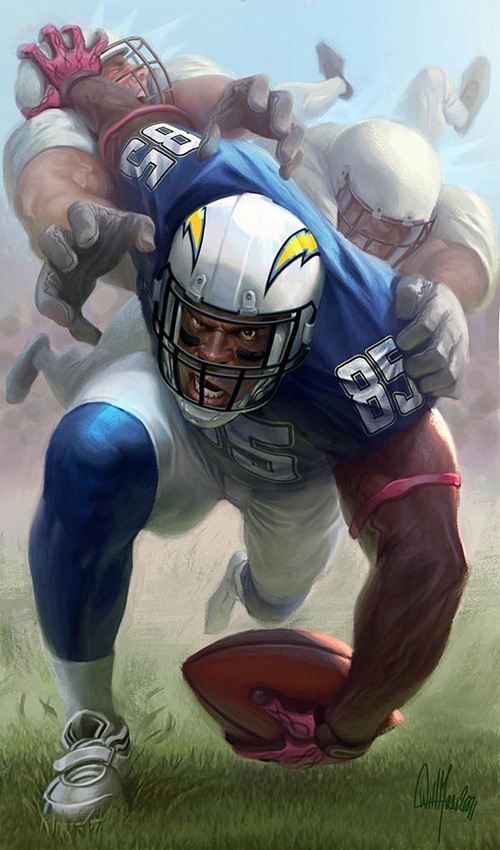 Antonio Gates by Will Murai