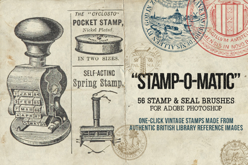 Stamp-O-Matic – A Vintage Stamp & Seal Brush Set
