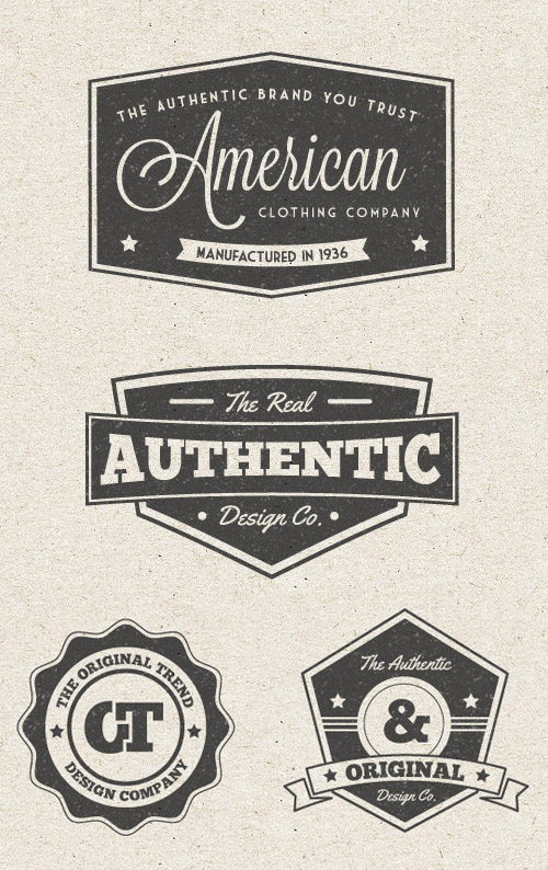 Free Vintage Label Vector Pack