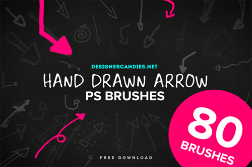Hand Drawn Arrow Brushes for Photoshop