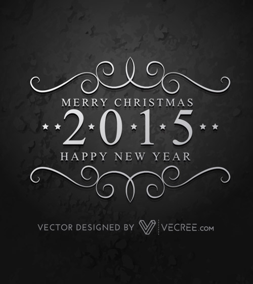 Creative 2015 Happy New Year Free Vector