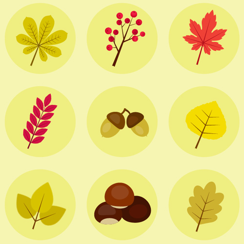 How to Create Autumn Leaves, Berries and Chestnut Icons in Adobe Illustrator