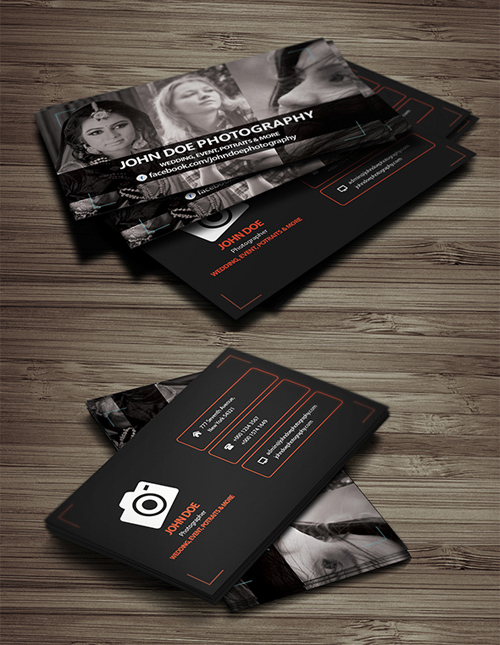 Photoshop Free PSD Files For Designers Freebies Graphic Design - Photography business cards templates for photoshop