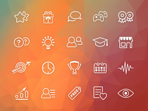 Gamification Icons (PSD)