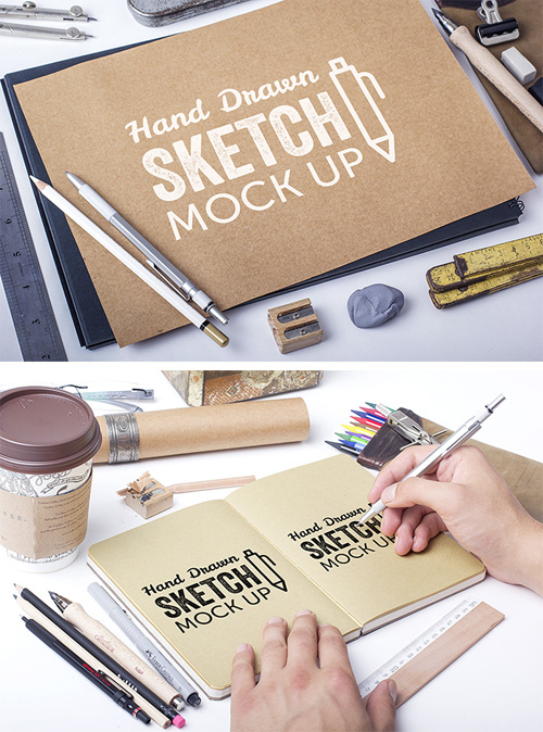 Hand Drawn Sketch Mock-Ups